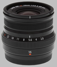 image of the Fujinon XF 16mm f/2.8 R WR lens