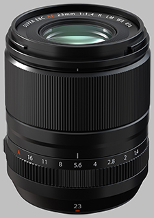 image of the Fujinon XF 23mm f/1.4 R LM WR lens