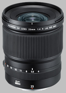 image of the Fujinon GF 23mm f/4 R LM WR lens