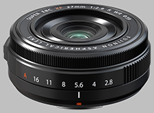 image of the Fujinon XF 27mm f/2.8 R WR lens