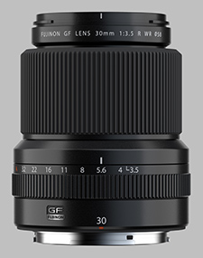 image of the Fujinon GF 30mm f/3.5 R WR lens