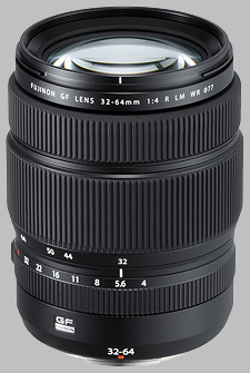 image of the Fujinon GF 32-64mm f/4 R LM WR lens