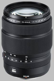 image of the Fujinon GF 32-64mm f/4 R LM WR lens