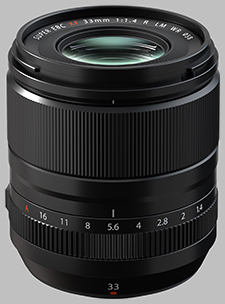 image of the Fujinon XF 33mm f/1.4 R LM WR lens