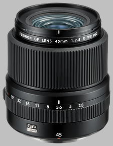 image of the Fujinon GF 45mm f/2.8 R WR lens