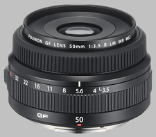 image of the Fujinon GF 50mm f/3.5 R LM WR lens