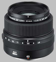 image of the Fujinon GF 63mm f/2.8 R WR lens