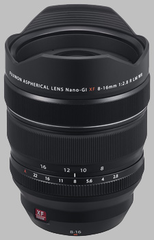 image of the Fujinon XF 8-16mm f/2.8 R LM WR lens