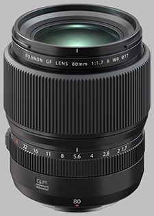image of the Fujinon GF 80mm f/1.7 R WR lens