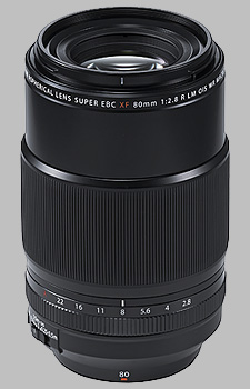 image of the Fujinon XF 80mm f/2.8 R LM OIS WR Macro lens