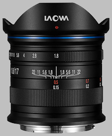 image of the Laowa 17mm f/1.8 MFT lens