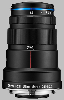image of the Laowa 25mm f/2.8 2.5-5X Ultra Macro lens