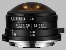 image of the Laowa 4mm f/2.8 Fisheye MFT lens