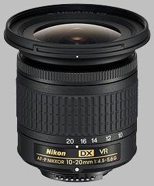image of the Nikon 10-20mm f/4.5-5.6G VR AF-P DX Nikkor lens