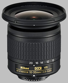image of the Nikon 10-20mm f/4.5-5.6G VR AF-P DX Nikkor lens