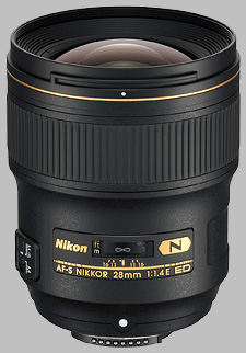 image of the Nikon 28mm f/1.4E ED AF-S Nikkor lens