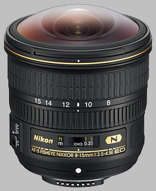 image of the Nikon 8-15mm f/3.5-4.5E ED AF-S Fisheye Nikkor lens