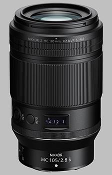 image of the Nikon Z MC 105mm f/2.8 VR S Nikkor lens