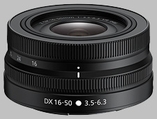 image of the Nikon Z 16-50mm f/3.5-6.3 VR DX Nikkor lens