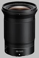 image of the Nikon Z 20mm f/1.8 S Nikkor lens