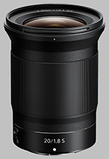image of the Nikon Z 20mm f/1.8 S Nikkor lens
