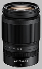 image of the Nikon Z 24-200mm f/4-6.3 VR Nikkor lens
