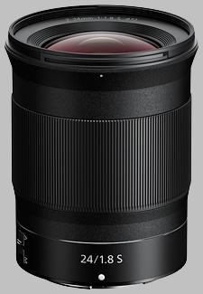 image of the Nikon Z 24mm f/1.8 S Nikkor lens