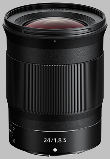 image of the Nikon Z 24mm f/1.8 S Nikkor lens