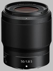image of the Nikon Z 50mm f/1.8 S Nikkor lens