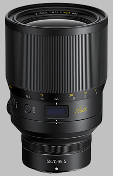 image of the Nikon Z 58mm f/0.95 S Noct Nikkor lens