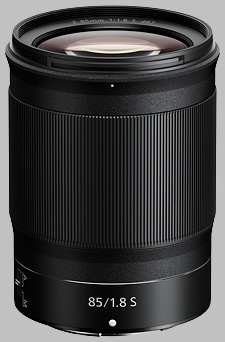 image of the Nikon Z 85mm f/1.8 S Nikkor lens