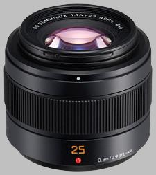 image of the Panasonic 25mm f/1.4 II ASPH LEICA DG SUMMILUX lens