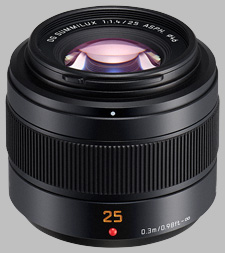 image of the Panasonic 25mm f/1.4 II ASPH LEICA DG SUMMILUX lens