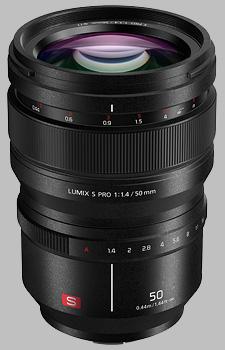 image of the Panasonic 50mm f/1.4 LUMIX S PRO lens