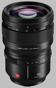 image of the Panasonic 50mm f/1.4 LUMIX S PRO lens