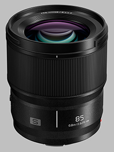 image of the Panasonic 85mm f/1.8 LUMIX S lens