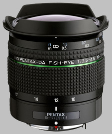 image of the Pentax 10-17mm f/3.5-4.5 ED HD DA Fish-Eye lens