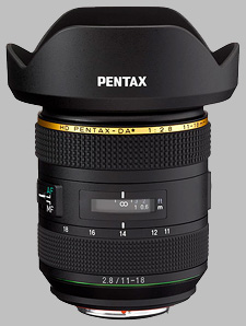 image of the Pentax 11-18mm f/2.8 ED DC AW HD DA* lens