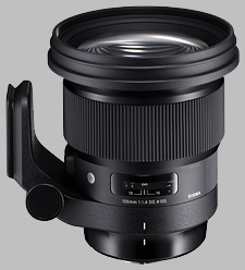 image of the Sigma 105mm f/1.4 DG HSM Art lens