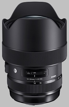 image of the Sigma 14-24mm f/2.8 DG HSM Art lens
