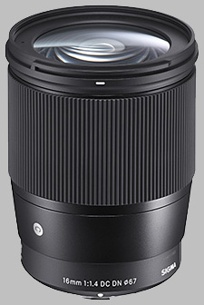 image of the Sigma 16mm f/1.4 DC DN Contemporary lens