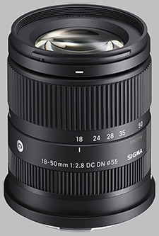 image of the Sigma 18-50mm F2.8 DC DN Contemporary lens
