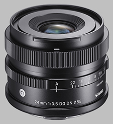 image of the Sigma 24mm f/3.5 DG DN Contemporary lens