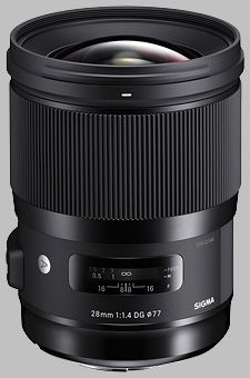 image of the Sigma 28mm f/1.4 DG HSM Art lens