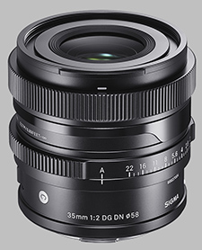 image of the Sigma 35mm f/2 DG DN Contemporary lens