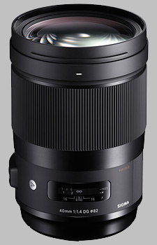 image of the Sigma 40mm f/1.4 DG HSM Art lens
