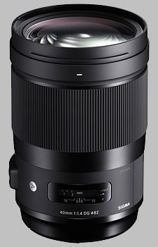 image of the Sigma 40mm f/1.4 DG HSM Art lens