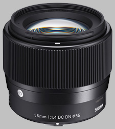 image of the Sigma 56mm f/1.4 DC DN Contemporary lens