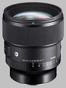 image of the Sigma 85mm f/1.4 DG DN Art lens
