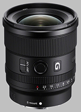 image of the Sony FE 20mm f/1.8 G SEL20F18G lens